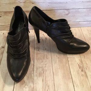 Nine West Shoe Booties Side Zip Black Sz 8